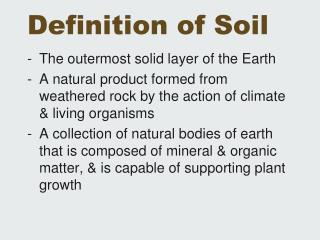 Definition of Soil