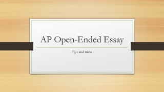 AP Open-Ended Essay
