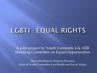 LGBTI - equal rights
