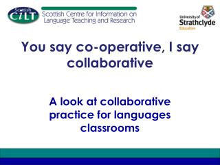 You say co-operative, I say collaborative