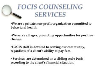 FOCIS COUNSELING SERVICES