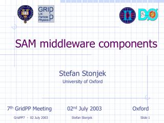 SAM middleware components