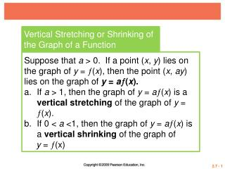 Vertical Stretching or Shrinking of the Graph of a Function