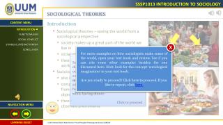 SOCIOLOGICAL THEORIES Introduction