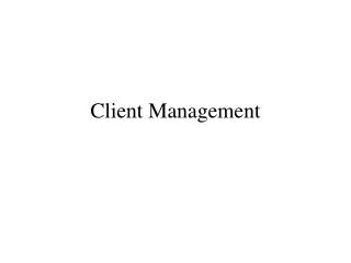 Client Management System