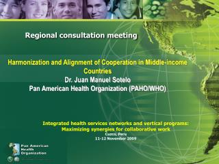 Regional consultation meeting