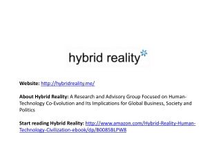 Hybrid Reality - Human Evolution Technology