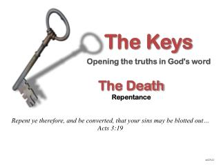 The Death Repentance