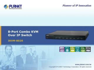 8-Port Combo KVM  Over IP Switch