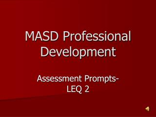 MASD Professional Development