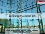 Conference Presentation Skills