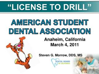 """LICENSE TO DRILL """