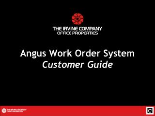 Angus Work Order System Customer Guide