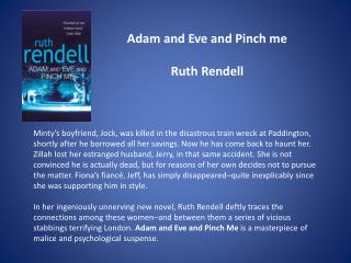 Adam and Eve and Pinch me  Ruth Rendell
