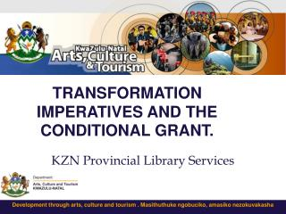 TRANSFORMATION IMPERATIVES AND THE CONDITIONAL GRANT.