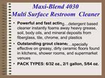 Maxi-Blend 4030 Multi Surface Restroom  Cleaner