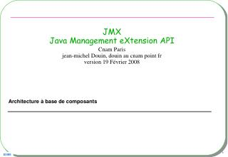 JMX Java Management eXtension API