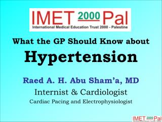 What the GP Should Know about Hypertension