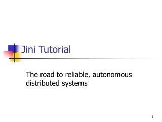 Jini Tutorial