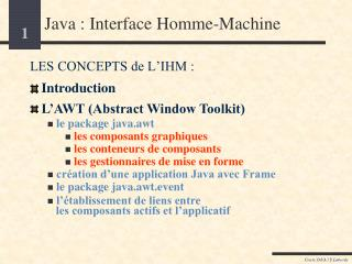 Java : Interface Homme-Machine