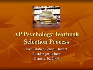 AP Psychology Textbook Selection Process