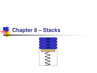 Chapter 8 – Stacks