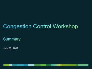 TCP Congestion Control Mechanisms II