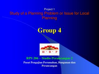Project 1 Study of a Planning Problem or Issue for Local Planning