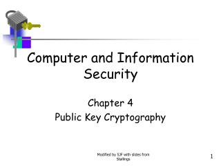 Computer and Information Security