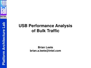 USB Performance Analysis  of Bulk Traffic