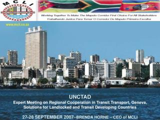 UNCTAD  Expert Meeting on Regional Cooperation in Transit Transport, Geneva,