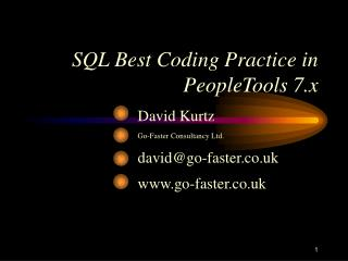 SQL Best Coding Practice in PeopleTools 7.x