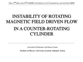 INSTABILITY OF ROTATING MAGNETIC FIELD DRIVEN FLOW  IN A COUNTER-ROTATING CYLINDER