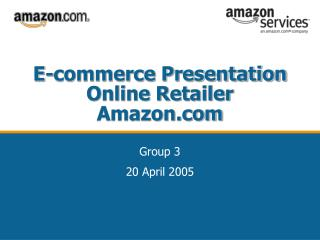 E-commerce Presentation Online Retailer Amazon