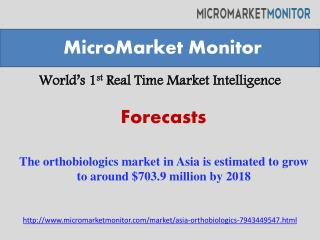 The orthobiologics market in Asia is estimated to grow to ar
