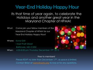 Year-End Holiday Happy Hour