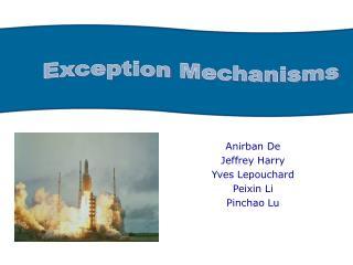 Anirban De Jeffrey Harry Yves Lepouchard Peixin Li Pinchao Lu