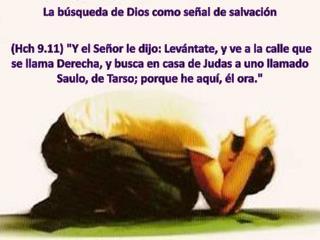 La búsqueda de Dios como señal de salvación