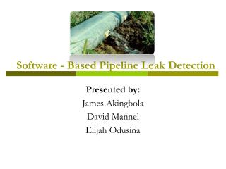 Software - Based Pipeline Leak Detection