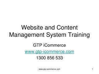 Website and Content Management System Training