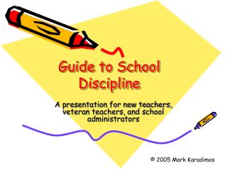 Guide to School Discipline