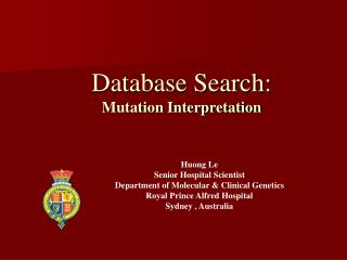 Database Search: Mutation Interpretation