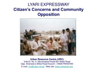 LYARI EXPRESSWAY Citizen's Concerns and Community Opposition