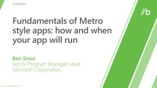 Fundamentals of Metro style apps: how and when your app will run