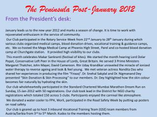 The Peninsula Post-January 2012