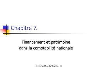Chapitre 7.