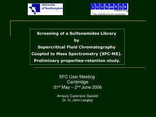 Screening of a Sulfonamides Library  by  Supercritical Fluid Chromatography