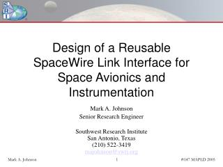 Design of a Reusable SpaceWire Link Interface for Space Avionics and Instrumentation