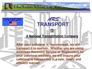 IS A National Transportation Company