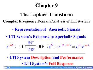 Chapter 9 The Laplace Transform